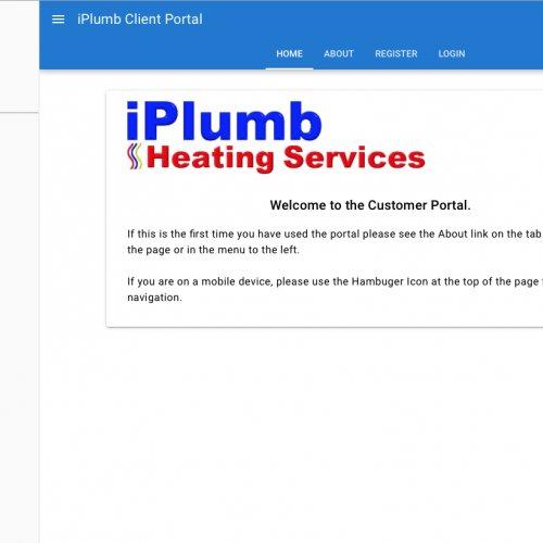iPlumb Heating Services New Customer Portal