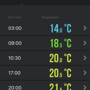 setting timed temperature changes