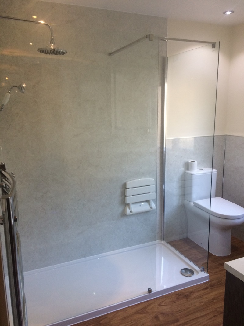 Walk in Shower with Multipanel